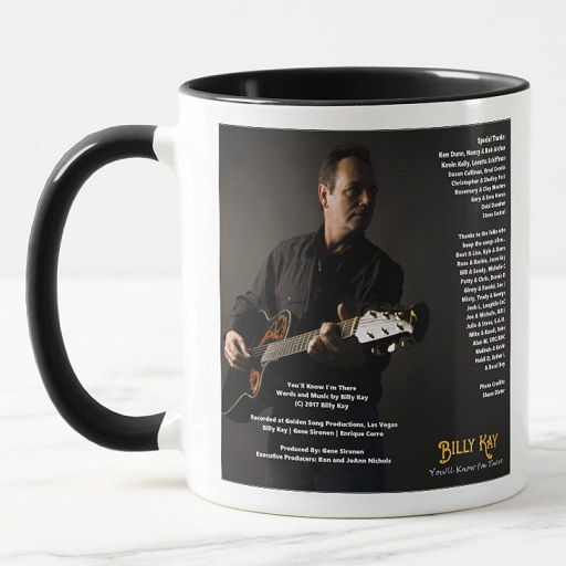 You'll Know I'm There CD Back Cover Ceramic Coffee Mugs