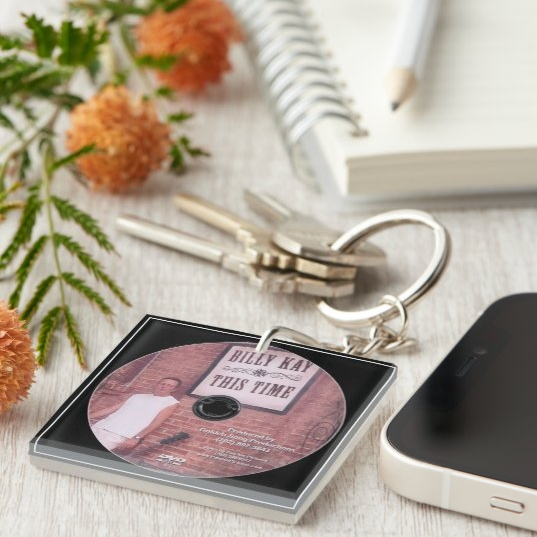 This Time CD Cover Square Keychains