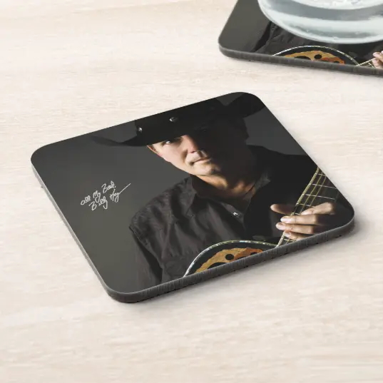 Billy Kay Official Cowboy Guitar Beverage Coasters