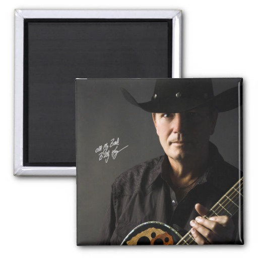 Billy Kay Official Cowboy Guitar Square Magnets