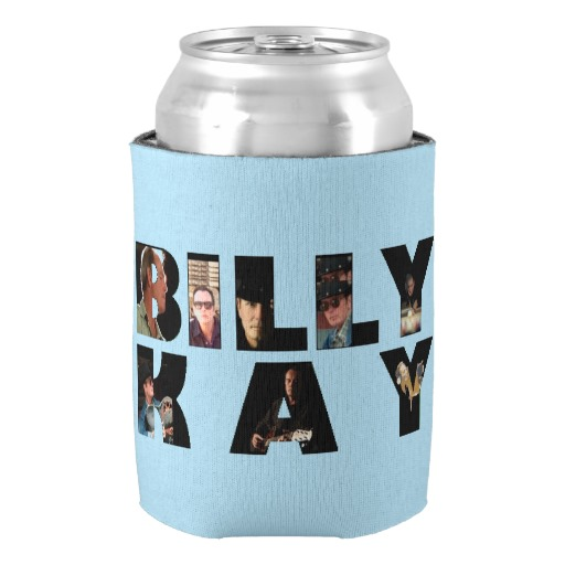 Billy Kay Official Photo Tour Logo Can Cooler Koozies