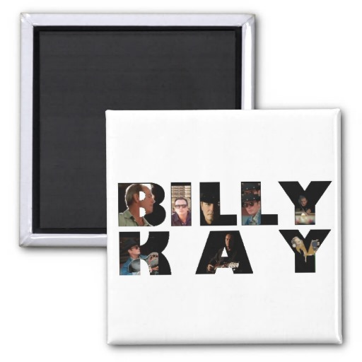 Billy Kay Official Photo Tour Logo Square Magnets