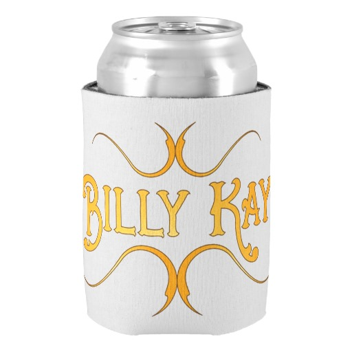 Billy Kay Official Yellow Logo Can Cooler Koozies