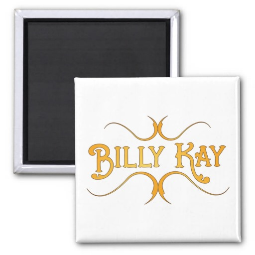 Billy Kay Official Yellow Logo Square Magnets